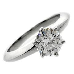 Tiffany & Co. Diamond Platinum Solitaire Ring