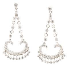 Diamond Gold Chandelier Flexible Dangle Earrings