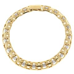 Absolute Diamond Gold Bismark Bracelet