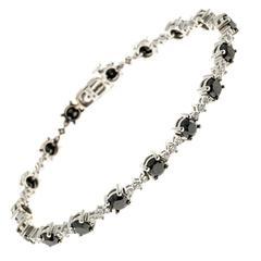 Black And White Diamond Gold Bracelet