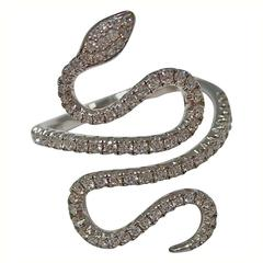 Jona Diamond Gold Snake Ring