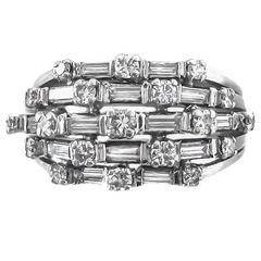 1950s Diamond Platinum Ring