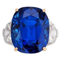 Untreated Burma Sapphire Ring 35.07 Carat