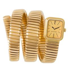 Bulgari Ladies Yellow Gold Serpenti Tubogas Wristwatch