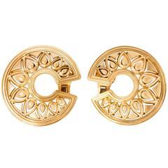 Cartier Paris Tanjore Gold Clip On Earrings