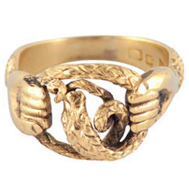 antique gold snake and ring at 1stdibs