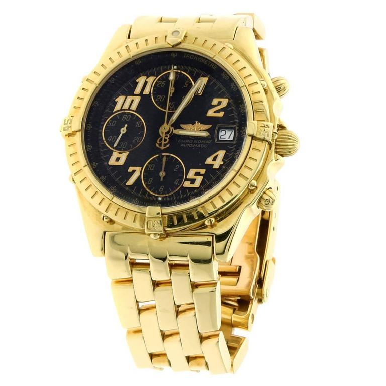 Breitling Yellow Gold Chronomat Automatic Wristwatch