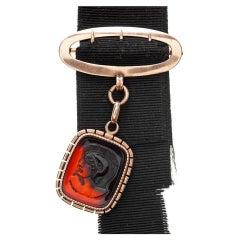 Georgian Carnelian Rose Gold Watch Fob