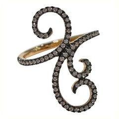 Jona Ghirigori White Diamond 18 Karat Rose Gold Ring