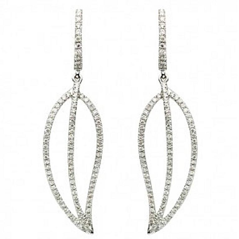 Diamond Gold Drop/Dangle Earrings 1