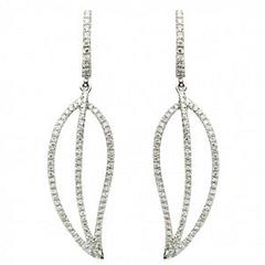 Diamond Gold Drop or Dangle Earrings