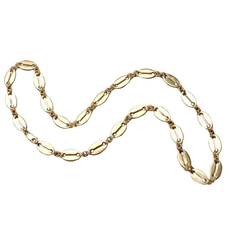 Marie E. Betteley Modern Gilded Silver Link Chain