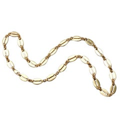 Modern Russian Gilded Silver Link Chain by Marie Betteley