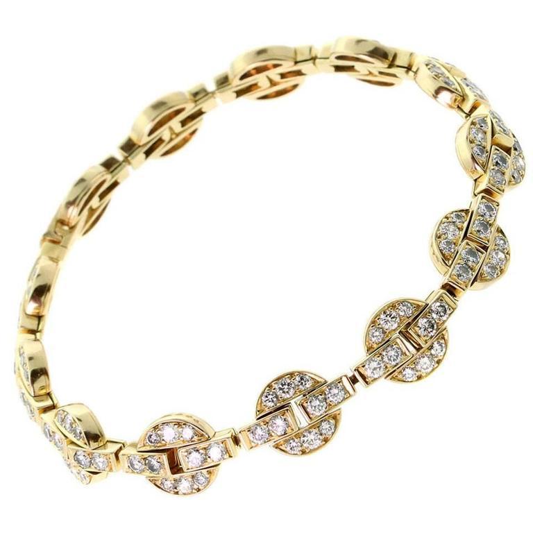 Cartier Himalia Diamond Gold Bracelet