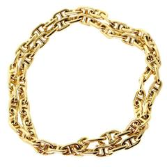 Hermes Gold Choker Necklace
