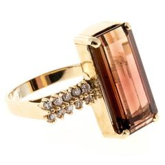 Tourmaline Diamond Gold Ring