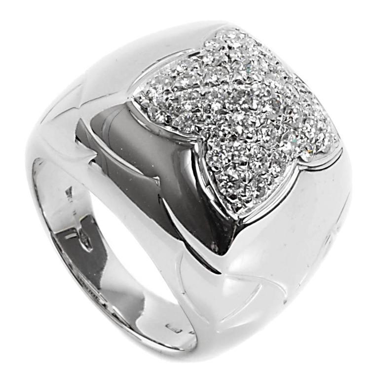 Bulgari Pyramide Diamond Gold Ring
