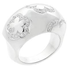 Chanel Camellia Diamond Gold Ring
