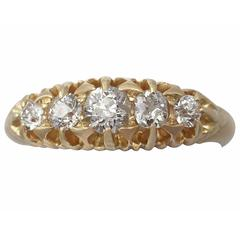 Diamond and Yellow Gold Five Stone Ring - Antique 1903
