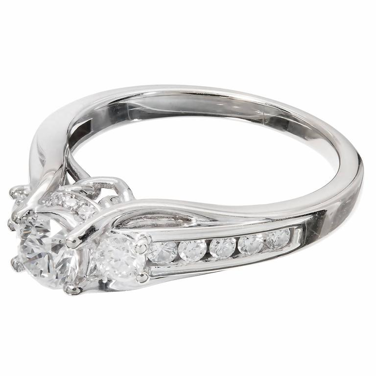 46 Carat Queen Crown Diamond Gold Engagement Ring For