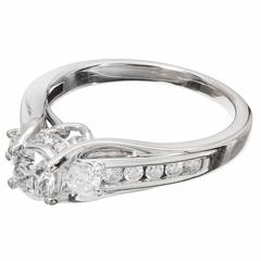 .46 Carat Queen Crown Diamond Gold Engagement Ring