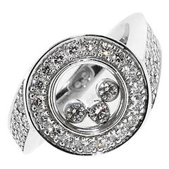 Magnificent Chopard Happy Diamond Gold Ring