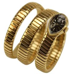 Bulgari Lady's Yellow Gold Juvenia Tubogas Snake Wristwatch