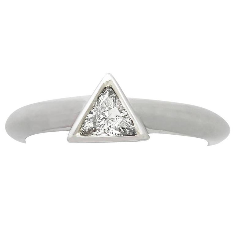 0.31 ct Diamond and Platinum Solitaire Ring - Contemporary