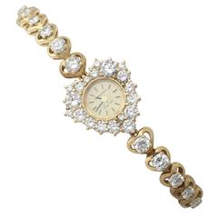 7.00Ct Diamond and 18k Yellow Gold 'Longines' Cocktail Watch - Contemporary
