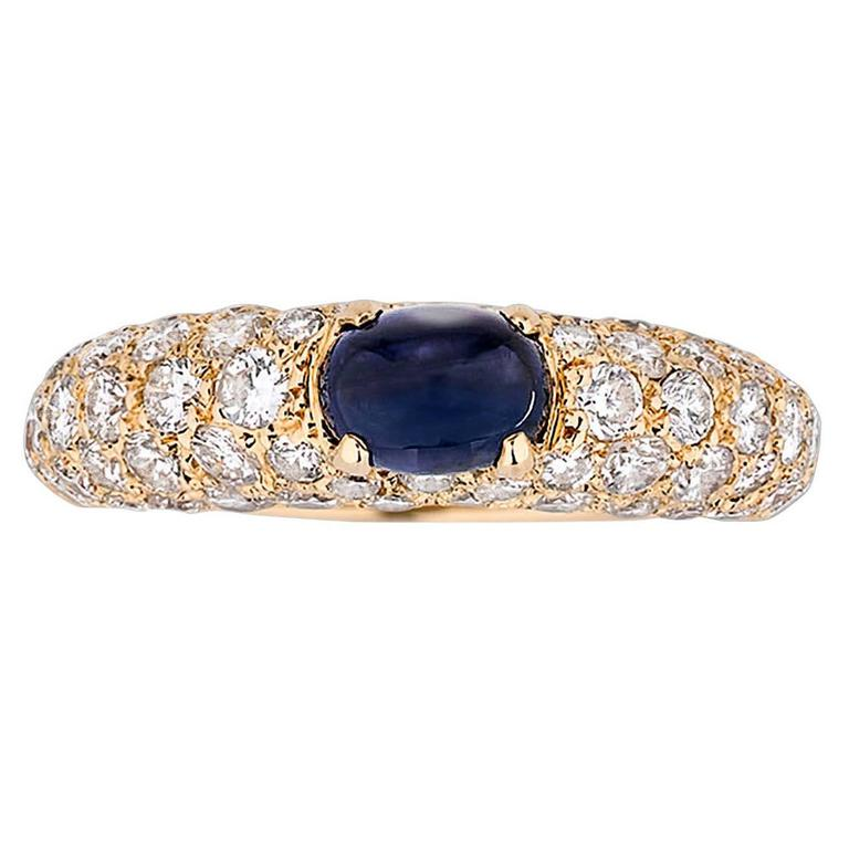 Cartier Cabochon Sapphire Ring 1