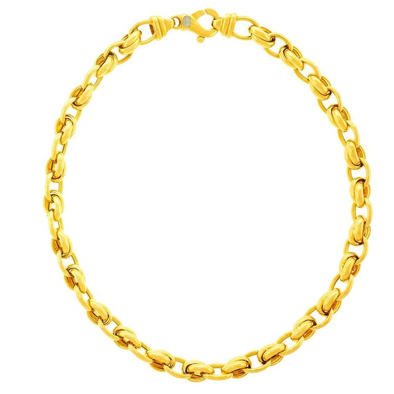1980s Gay Freres Gold link Necklace 1