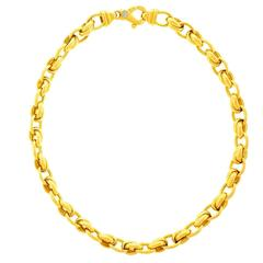 1980s Gay Freres Gold link Necklace
