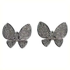 Jona Diamond White Gold Butterfly Earrings