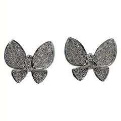 Jona Diamond White Gold Butterfly Earrings