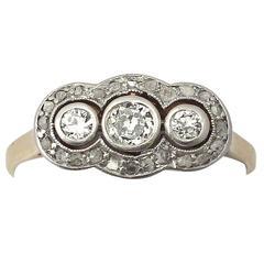1910s Antique Diamond Gold platinum Cocktail Ring