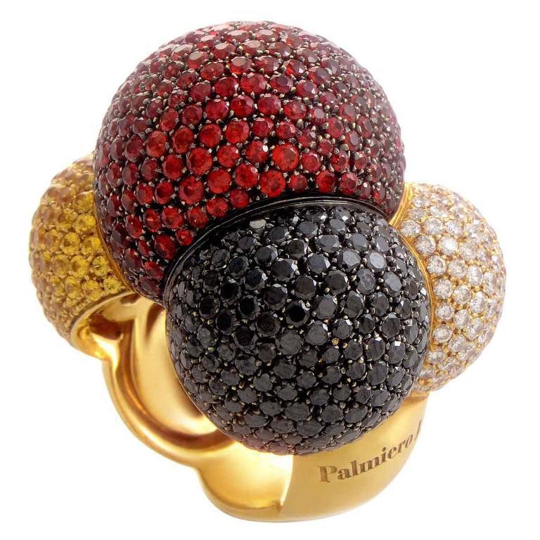Palmiero Sapphire Diamond Gold Ring 1