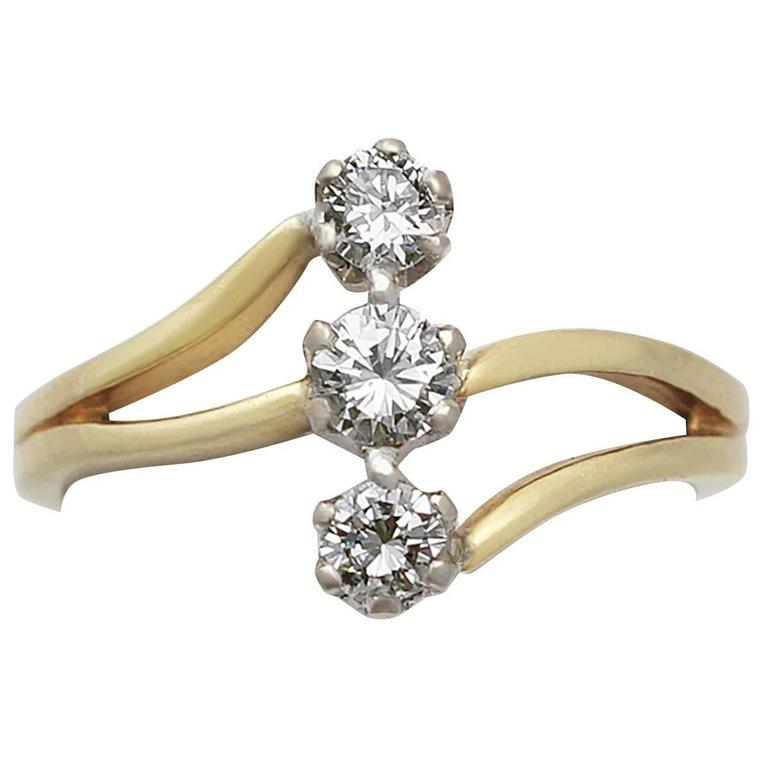 Diamond Yellow Gold Cocktail Ring