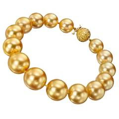 Golden South Sea Pearl Bracelet