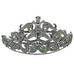 Magnificent Diamond Gold Tiara Necklace