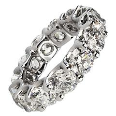 Stunning Diamond Platinum Round Eternity Band Ring