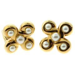 Classic Chanel Pearl Gold Earrings