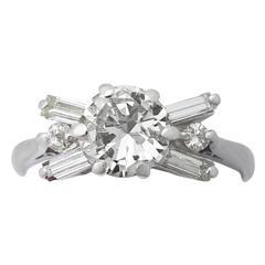 1940s 1.61 Carat Diamond Gold Ring