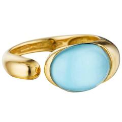 Turquoise Gold Gocce Ring