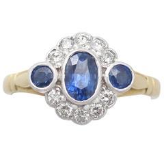 Sapphire & Diamond Yellow Gold Cocktail Ring