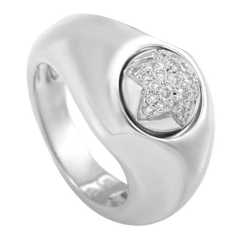 Piaget Diamond Gold Star Band Ring
