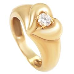 Van Cleef & Arpels Diamond Gold Heart Band Ring