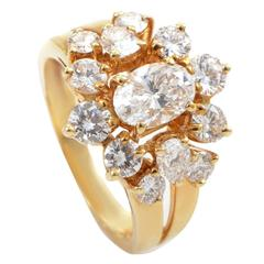 Chaumet Diamond Gold Cluster Ring