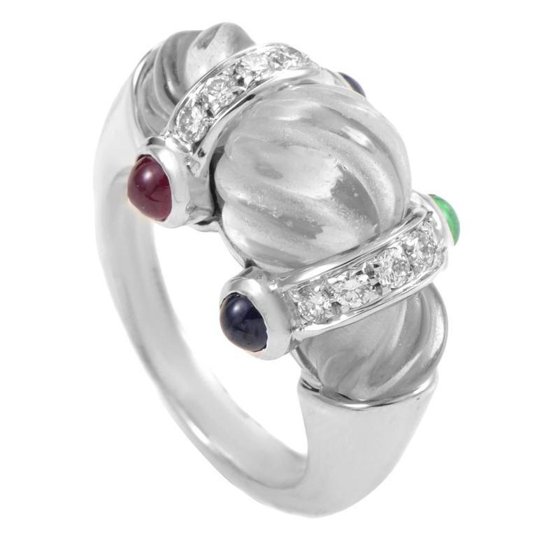 Boucheron Crystal Gemstone Gold Ring