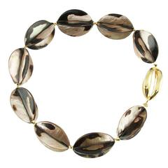Shell Star Fruit Gilt Sterling Silver Statement Necklace
