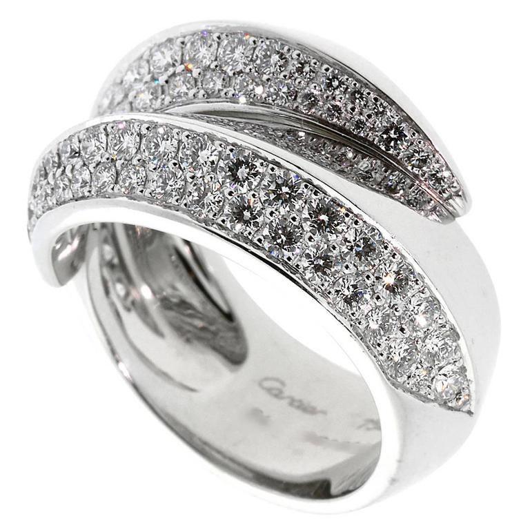 Cartier Panthere Diamond Gold Ring 1